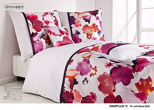 GRASER luxury bed linen - damask and print - mod. Amaryllis