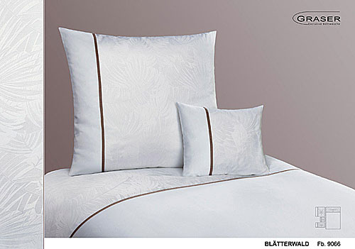 GRASER luxury bed linen - damask and print - mod. blaetterwald