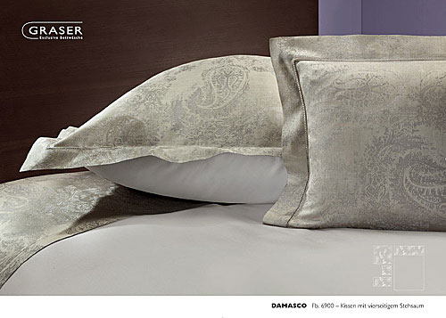 GRASER luxury bed linen - damask and print - mod. damasco