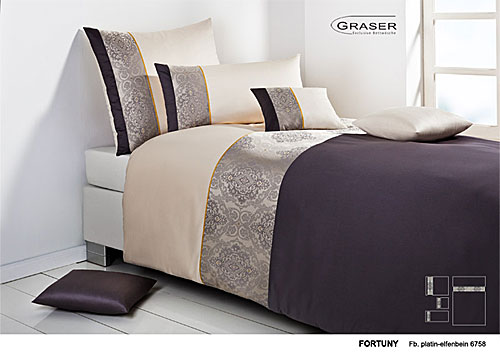 GRASER luxury bed linen - damask and print - mod. Fortuny