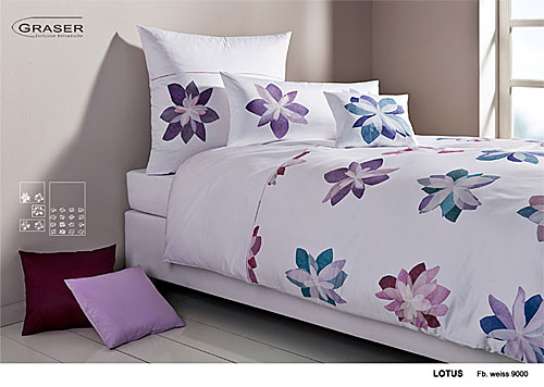 GRASER luxury bed linen - damask and print - mod. Lotus
