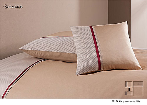 GRASER luxury bed linen - damask and print - mod. Milo