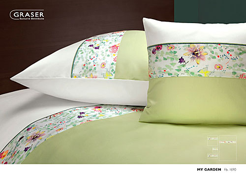 GRASER luxury bed linen - damask and print - mod. MyGarden