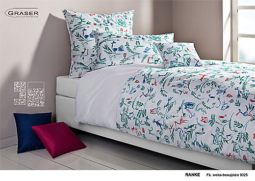 GRASER luxury bed linen - damask and print - mod. Ranke