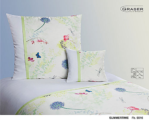 GRASER luxury bed linen - damask and print - mod. Summertime