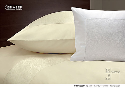 GRASER luxury bed linen - damask and print - mod. Torcello
