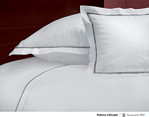 GRASER luxury bed linen - percale and linen - mod. prelude