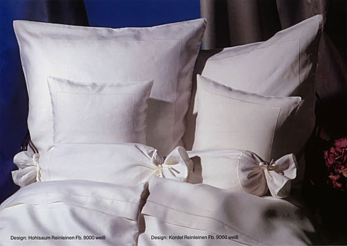 GRASER luxury bed linen - percale and linen - mod. rl-hohlsaum-kordel