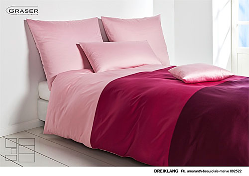 GRASER luxury bed linen - mako satin multi colour - mod. Dreiklang