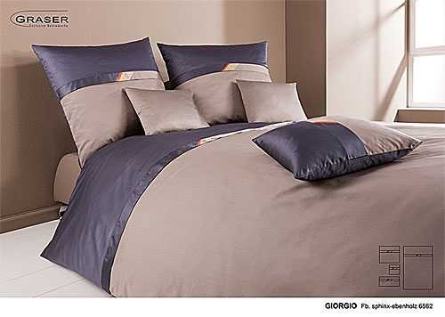 GRASER luxury bed linen - mako satin multi colour - mod. Giorgio