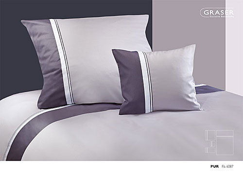 GRASER luxury bed linen - mako satin multi colour - mod. pur