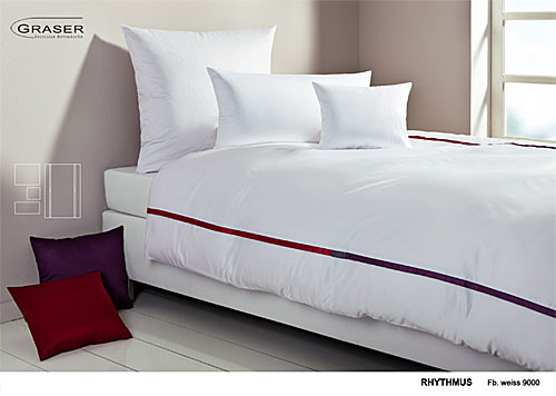 GRASER luxury bed linen - mako satin multi colour - mod. rhythmus