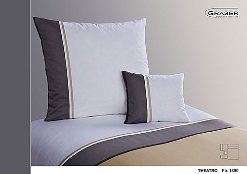 GRASER luxury bed linen - mako satin multi colour - mod. theatro