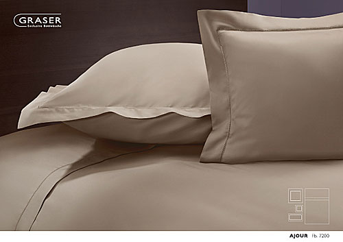 GRASER luxury bed linen - mako satin plain colour - mod. ajour