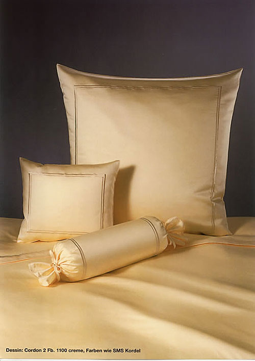 GRASER luxury bed linen - mako satin plain colour - mod. cordon2
