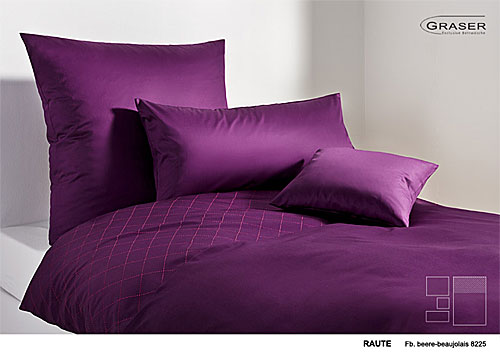 GRASER luxury bed linen - mako satin plain colour - mod. Raute