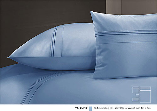 GRASER luxury bed linen - mako satin plain colour - mod. triolino