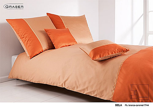 GRASER luxury bed linen - mako satin two colours - mod. Bela