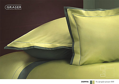 GRASER luxury bed linen - mako satin two colours - mod. Doppia
