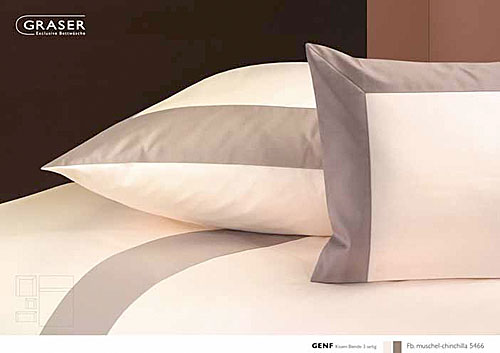 GRASER luxury bed linen - mako satin two colours - mod. genf