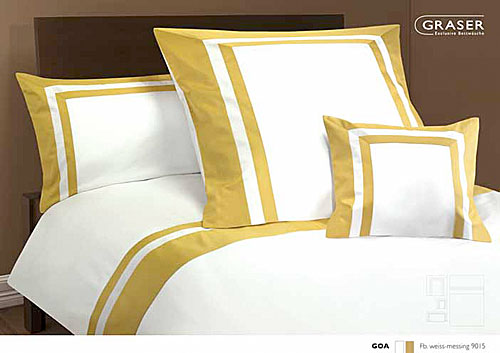 GRASER luxury bed linen - mako satin two colours - mod. Goa