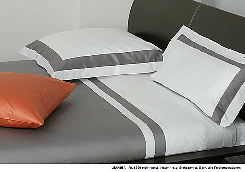 GRASER luxury bed linen - mako satin two colours - mod. leander
