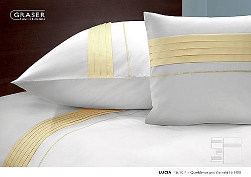 GRASER luxury bed linen - mako satin two colours - mod. lucia
