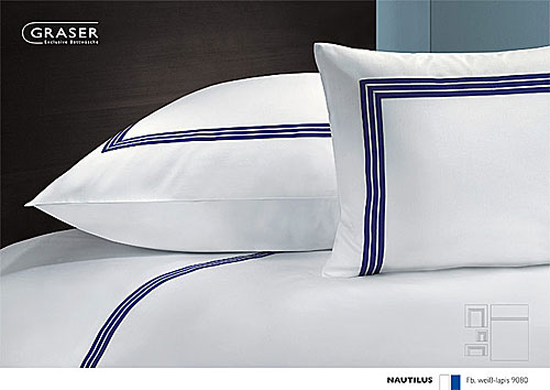 GRASER luxury bed linen - mako satin two colours - mod. Nautilus