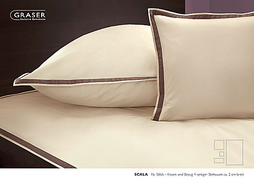 GRASER luxury bed linen - mako satin two colours - mod. Scala