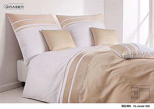 GRASER luxury bed linen - mako satin two colours - mod. Selima
