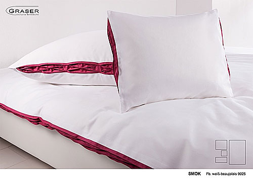GRASER luxury bed linen - mako satin two colours - mod. Smok