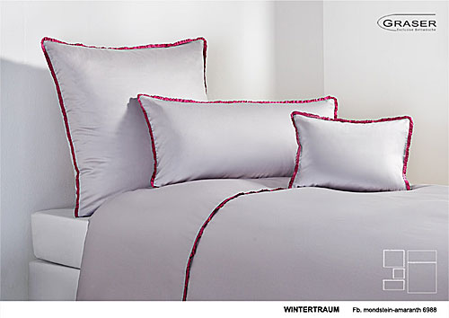 GRASER luxury bed linen - mako satin two colours - mod. Wintertraum