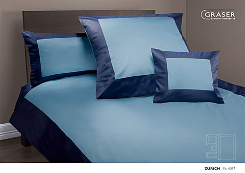 GRASER luxury bed linen - mako satin two colours - mod. Zuerich