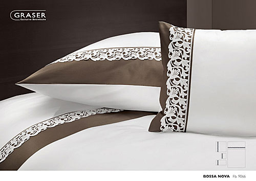 GRASER luxury bed linen - soft lace on mako satin - mod. Bossanova