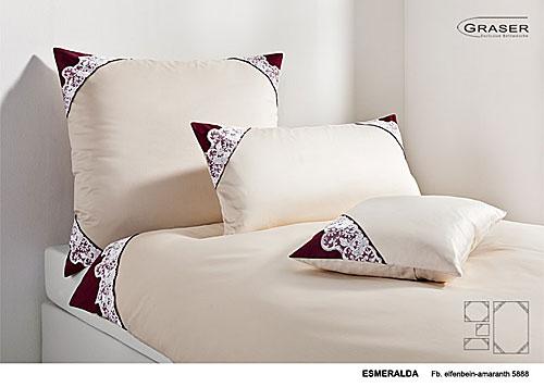 Graser Exklusive Bettwäsche Spitzen Modell Esmeralda
