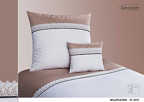 GRASER luxury bed linen - soft lace on mako satin - mod. millefleur