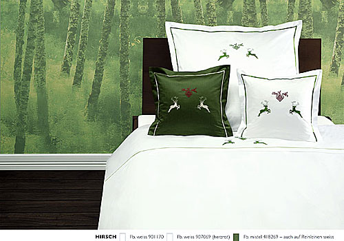 GRASER luxury bed linen - embroidery on mako satin - mod. Hirsch