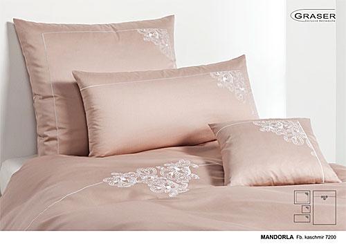 GRASER luxury bed linen - embroidery on mako satin - mod. Mandorla