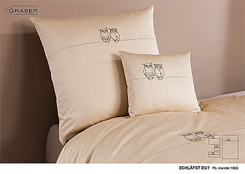 GRASER luxury bed linen - embroidery on mako satin - mod. Schl�fst Du?