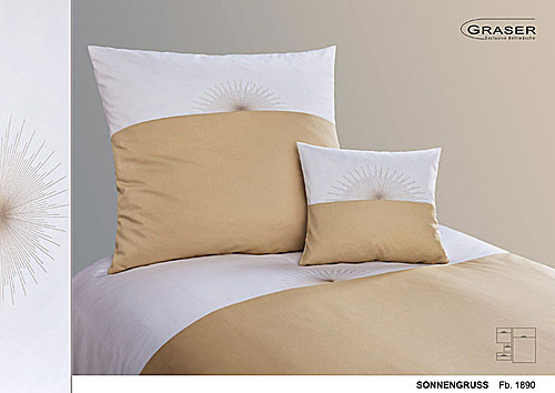 GRASER luxury bed linen - embroidery on mako satin  - mod. sonnengruss