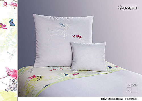 GRASER luxury bed linen - embroidery on mako satin - mod. Tr�nendes Herz