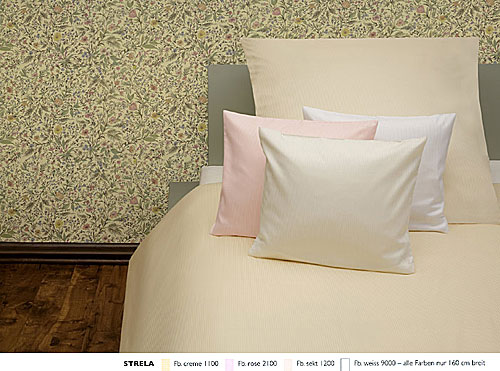 GRASER luxury bed linen - stripes and checks plain - mod. strela