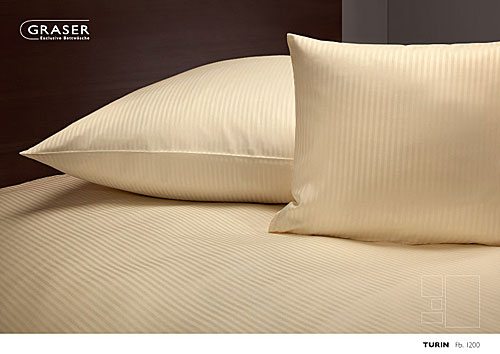 GRASER luxury bed linen - stripes and checks plain - mod. Turin