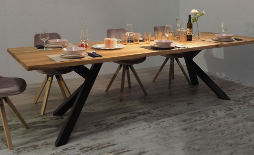 OAK & IRON Dining table Everest