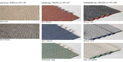 EXPORMIM Farben outdoor rugs colours