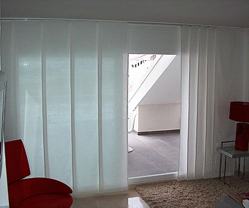 Panel track curtains
