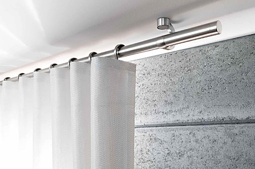 INTERSTIL curtain rods stainless steel ceiling fit