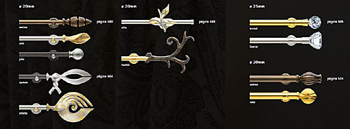 INTERSTIL curtain rods brass Exclusivo - Modelle