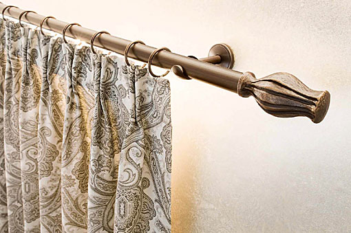 INTERSTIL curtain rods brass Exclusivo