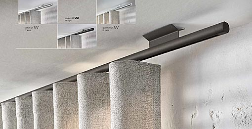 INTERSTIL Curtain rail Novum / ceiling fit